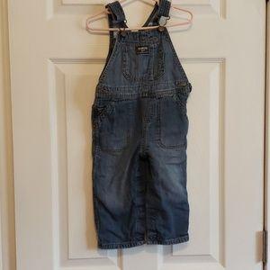 24m Oshkosh Flannel Lined Jean Overalls